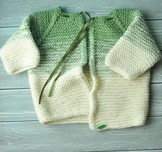 knitted a baby little jacket handmade work
