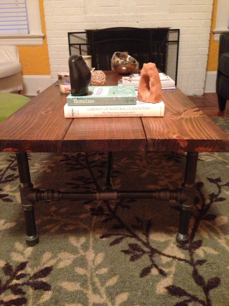 Black Iron Pipe Base And Pine Table Top. Got The Instructions Here Http:/ · Industrial  Coffee ...