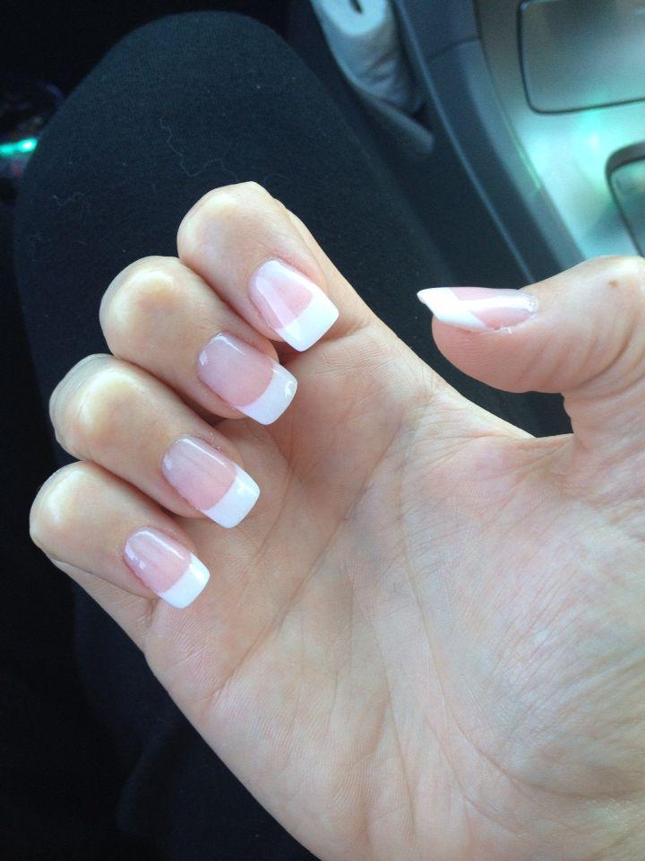 Another angle of the SNS French I got done today  Nails  Nails Pedicure nails Sns nails colors