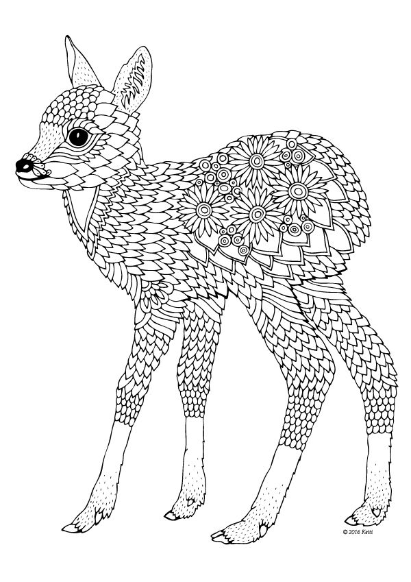 coloring page for adults - illustration by Keiti                                                                                                                                                                                 More