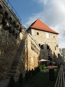 The Cluj-Napoca Tailors' Tower, build in 15th century, Romania