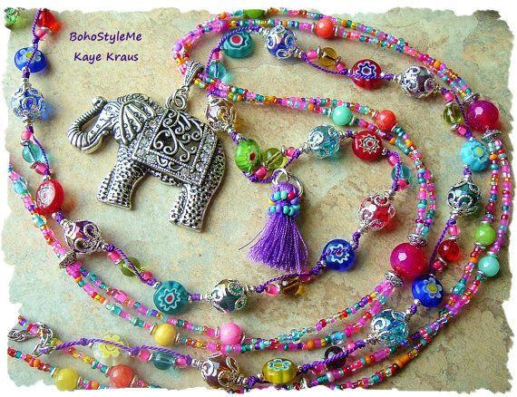 Boheemse sieraden Boho Hippie Gypsy kleurrijke Boho stijl