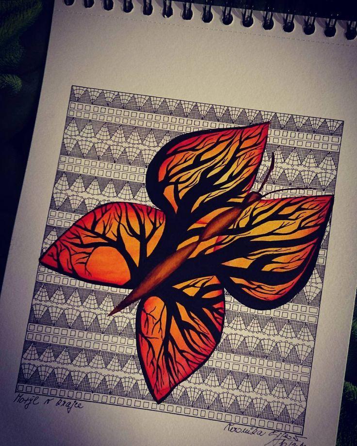 """12 To se mi líbí, 1 komentářů – Veronika Šiflová (@veja.beruska) na Instagramu: """"Motýl v krajce…"""""""