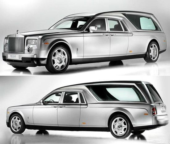 Rolls Royce Phantom Hearst B12 - most expensive funeral car - 662,000 dollars.