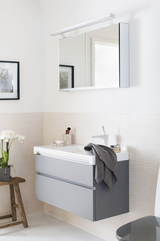 Hyvässä kylpyhuoneessa on kahdenlaista valoa: yleisvalo ja kohdevalot.