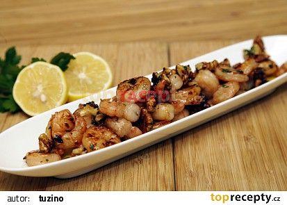 Krevety v pikantnej medovej marináde s vlašskými orechmi
