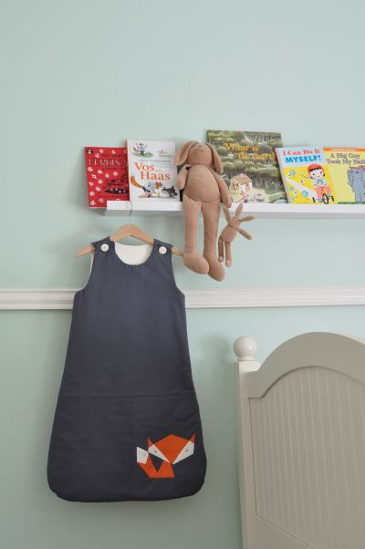 Lua Sleepsack with paper pieced fox // Miestaflet