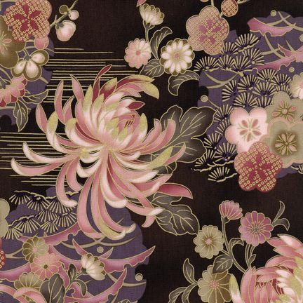 Robert Kaufman Fabrics: HRK-551102L-5 from Hyakkaryouran Sateen