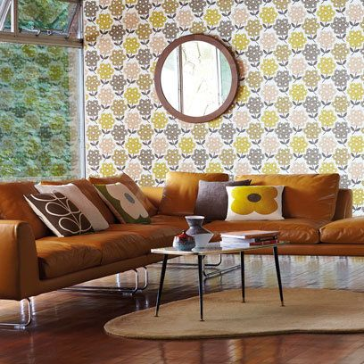 Orla Kiely: Midcentury Living Room: Decorating Ideas: Interiors