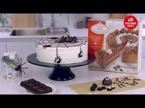 Halloween-Spinnen-Torte