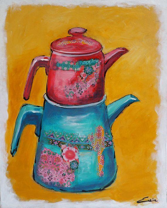 Bekijk dit items in mijn Etsy shop https://www.etsy.com/listing/267575992/turkish-teapot