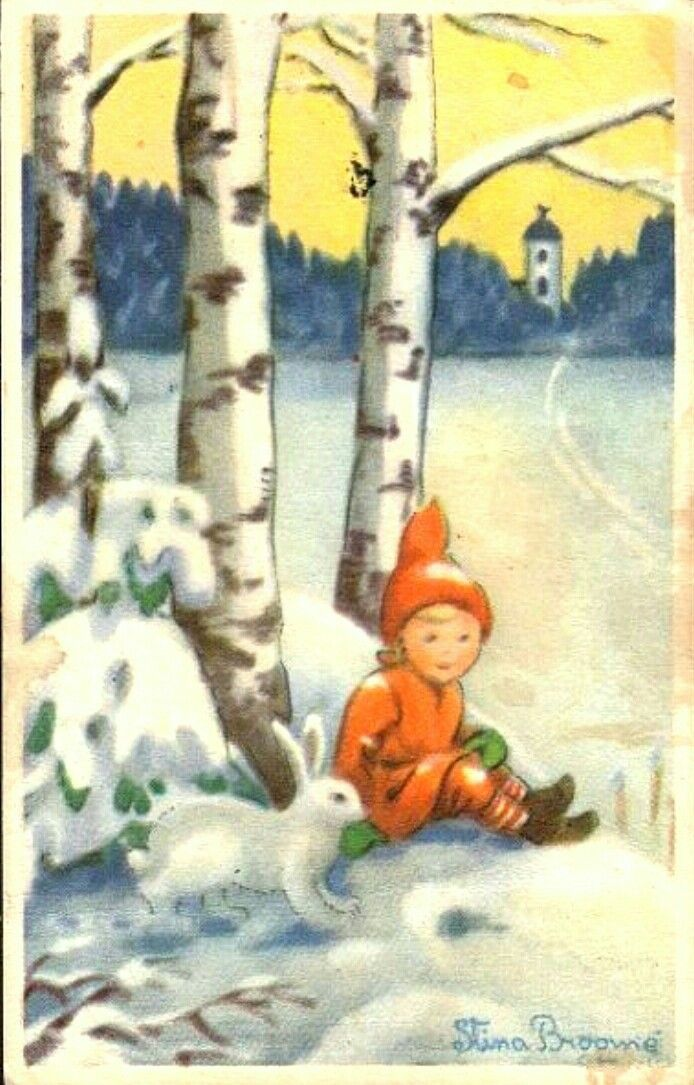 Stina Broomé Utg Nordisk konstförlag stämpel 1937