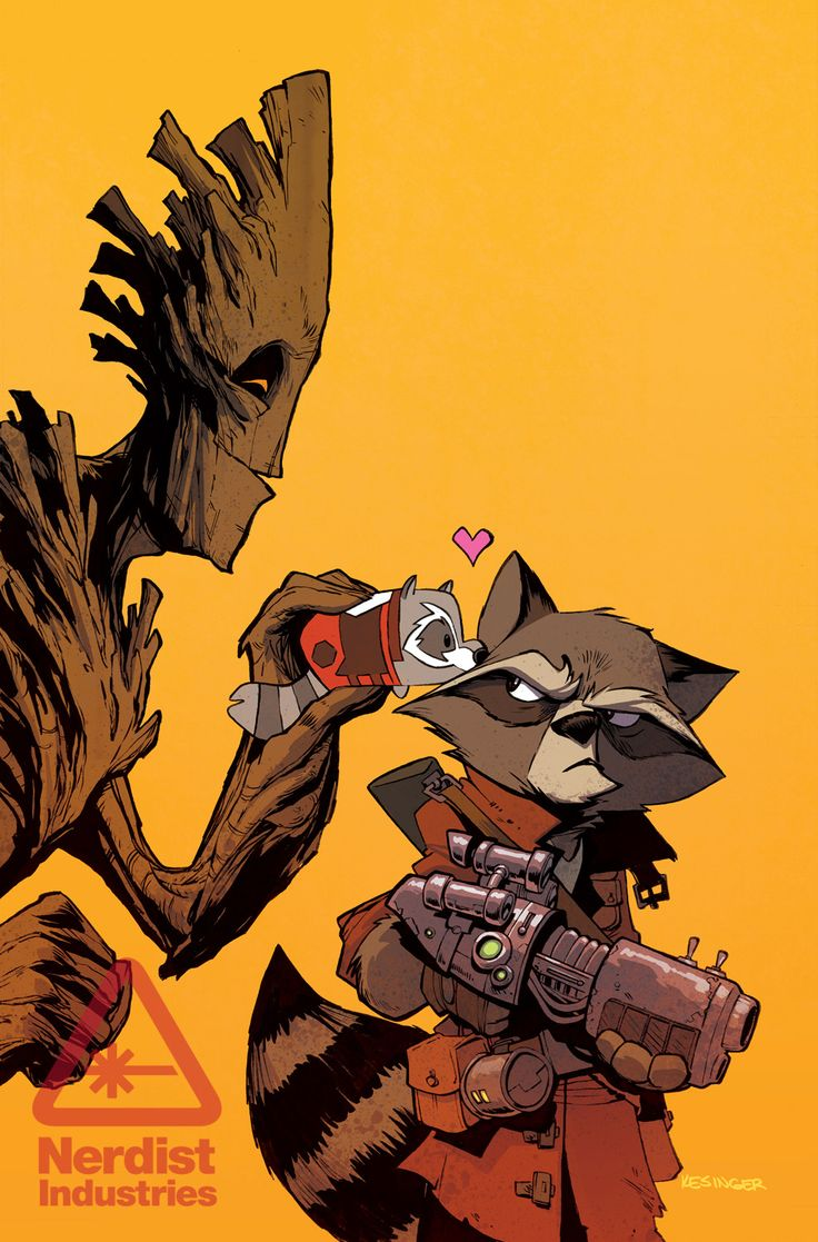 Rocket Raccoon and Groot #8 by Brian Kesinger - Tsum Tsum Invades the Marvel Universe in New Comic Book Series (Exclusive) | Nerdist