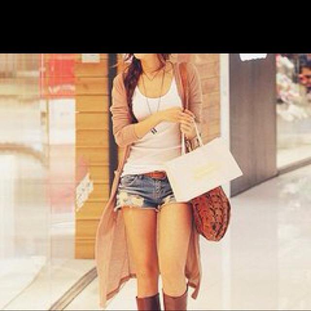 Shorts#boots#: Cardigans, Long Cardigan, Outfits, Fashion, Summer Outfit, Style, Dream Closet, Clothes, Shorts