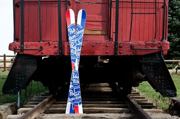 We're giving away a pair of PBR/Lib Tech collab skis - Freeskier Magazine