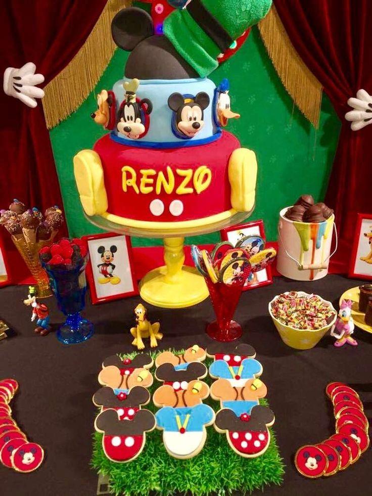 16 best decoraci n de la casa club de mickey para - Decoracion para cumpleanos ...