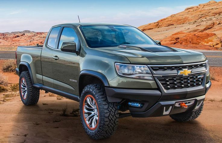 Chevrolet Colorado ZR2 Off-road Truck all-new durable 2.8L Duramax Diesel engine (available in production models in 2016) powers this concept truck over