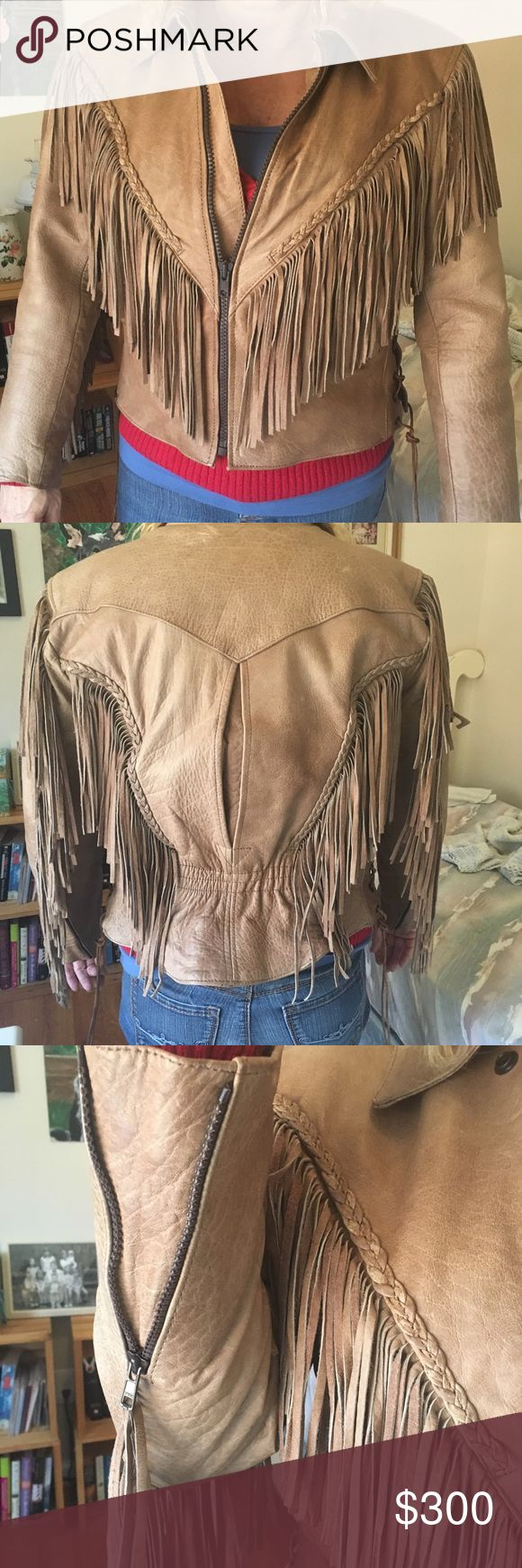 Tan genuine leather Unik jacket Beautiful leather jacket purchased for $400 at Harley Davidson store. Has insulated zip out liner. Only worn a few times. Perfect condition!! Unik Jackets & Coats