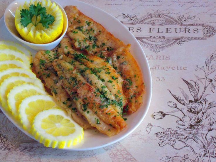 Julie Child's recipe for Fillets of Sole Meuniere
