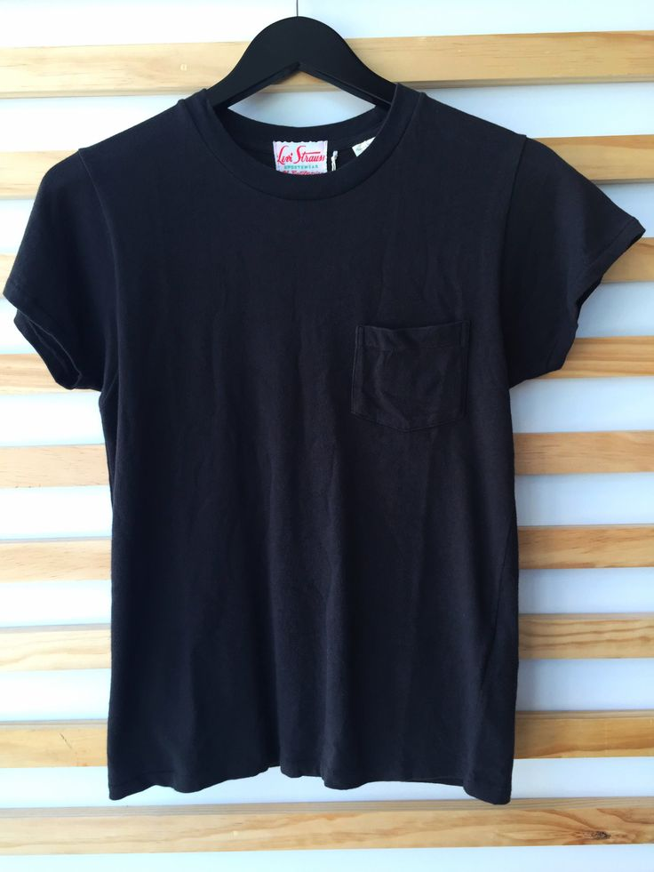Levi 39 s vintage clothing black 1950 39 s sportswear t shirt for Levis vintage denim shirt 1950 sawtooth slim fit