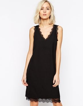 Selected Lasana Shift Dress with Lace Detail