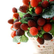 9 artifical fake fruit wedding home decoration flower artificial fruit paddle strawberry photo props plant(China (Mainland))
