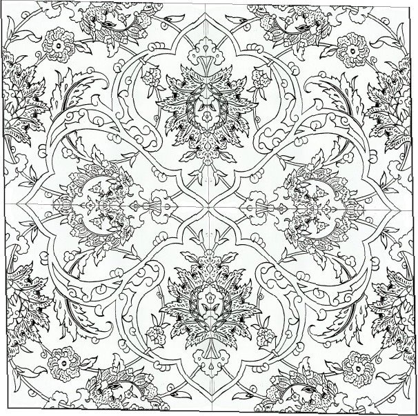 coloring pages islamic patterns images - photo#32