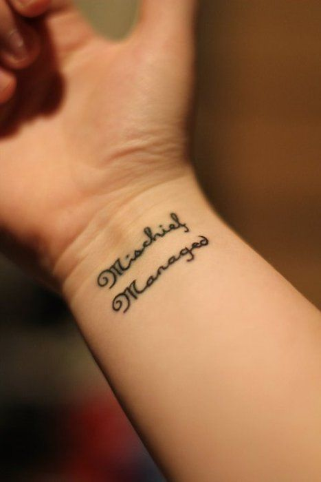 Mischief Managed Tattoo - Awesome font.  #HP