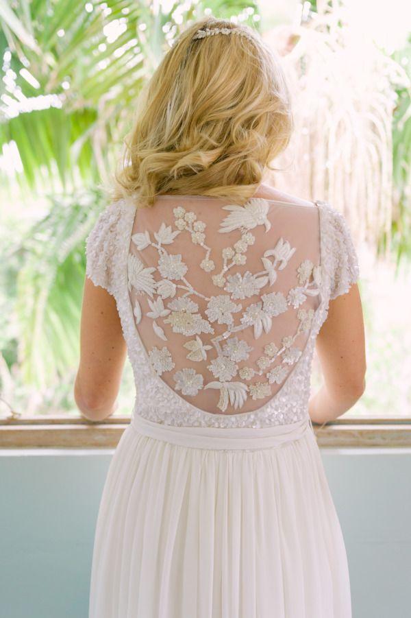 Sheer wedding dress | fabmood.com