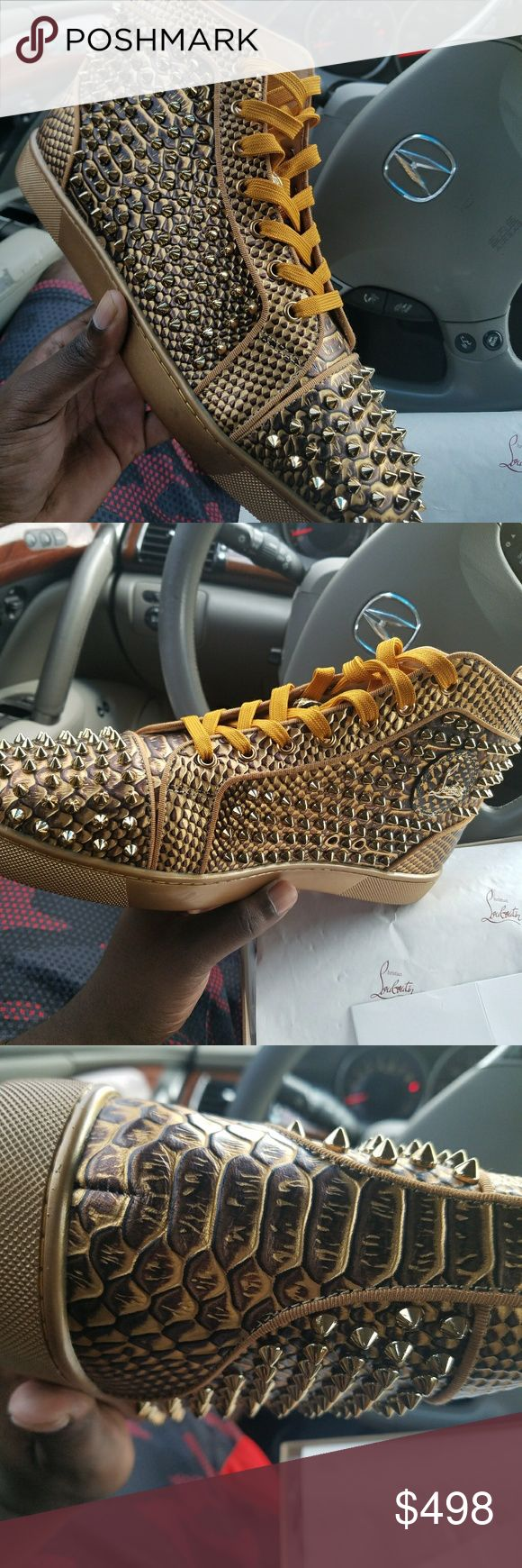 Authentic Gold PYTHON Christian Louboutin ‼️BRAND NEW STYLES IN‼️ ✅ All of our goods are ready to ship! Free 2-3 day with tracking✅ 📲 If you are serious please message the number in the bio or DM for price 📲 7704672974 ❌DO NOT WAIT ON YOUR ORDER! BECAUSE WE MIGHT NOT HAVE THE SAME STYLES/SIZES WITHIN DAYS! ❌ 🔌GET IT WHILE YOU CAN🔌  #sneakershouts #sneakeraddict #sneakerfreak #sneakerporn #style #fashion #luxurybrands #christianlouboutin #balenciaga #balenciagaparis #yeezy #yeezy350…