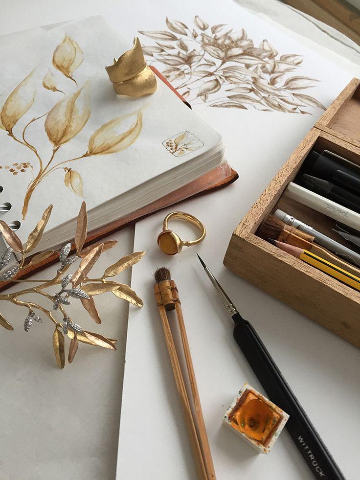 Charlotte Lynggaard | Drawings + jewelry designs
