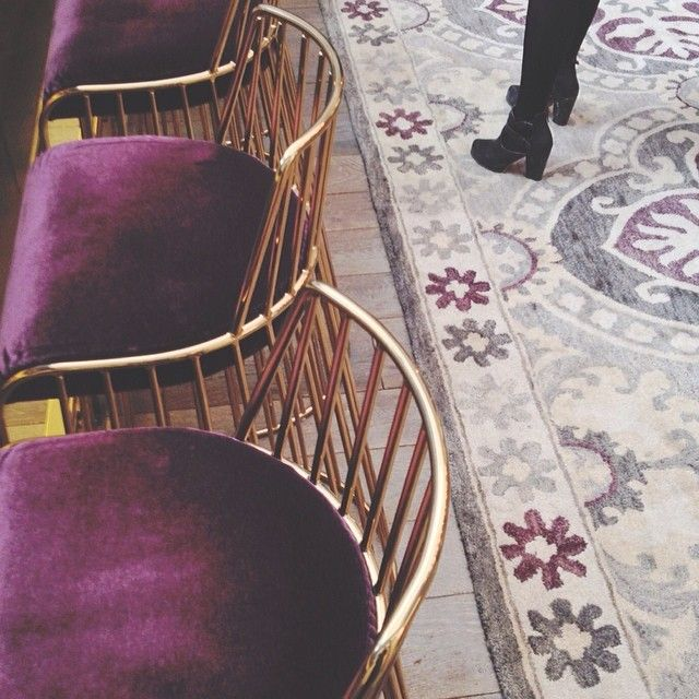 Purple and gold chairs