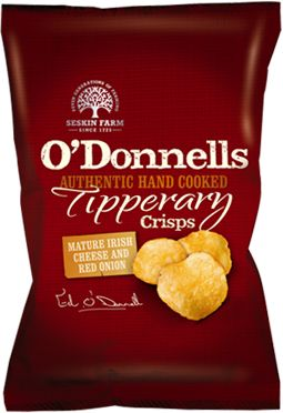Irish Cheese and Onion crisps from O'Donnells