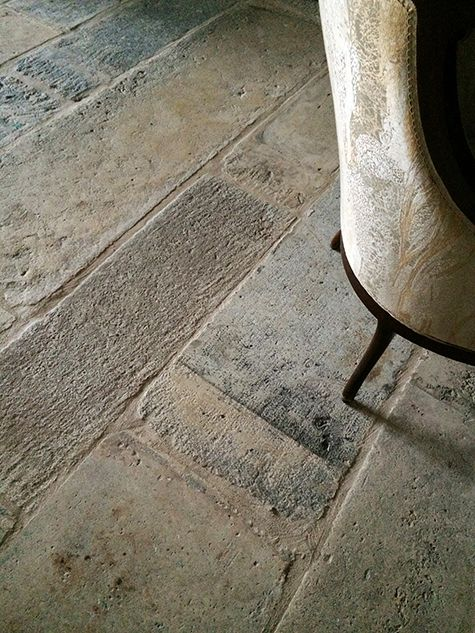 Antique reclaimed Biblos Stone is similar to the Biblical and is being featured in an outdoor loggia of a Provence style home in Brentwood CA