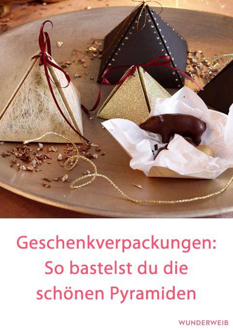 DIY Pyramiden Geschenkverpackung basteln