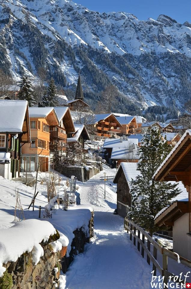 Wengen BE Switzerland, Ι ve been in Wengen a lot of times. Its really a very beautiful alpine village.lying at an altitute of about 1300 meters on the magnificent Jungfrau mountain. Cars are not possible to  reach the village. It can been reached only by rail.
