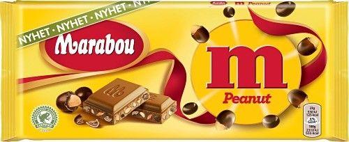 Marabou Peanut. A new fresh chocolate bar, by Marabou.