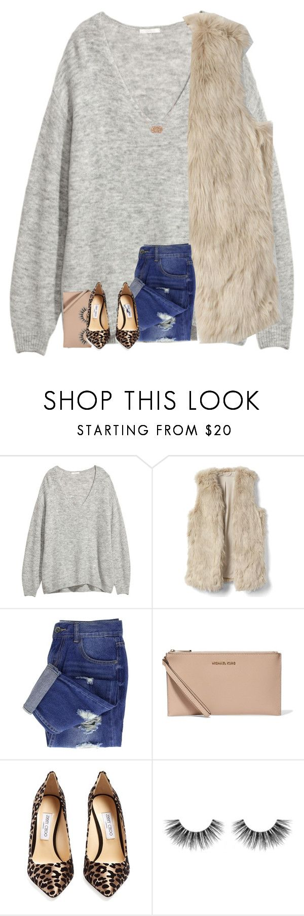 """greys anatomy"" by legitmaddywill ❤ liked on Polyvore featuring MICHAEL Michael Kors, Jimmy Choo, Velour Lashes and Kendra Scott"