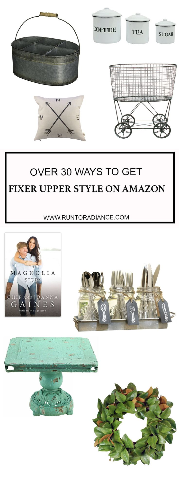I love the show Fixer Upper, and it's so easy to get the Fixer Upper look on my favorite shopping site, Amazon.com. Fixer Upper on Amazon - Hooray!