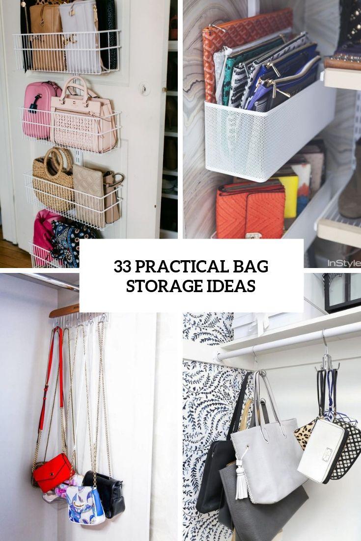 33 Practical Bag Storage Ideas With Images Diy Storage Rack