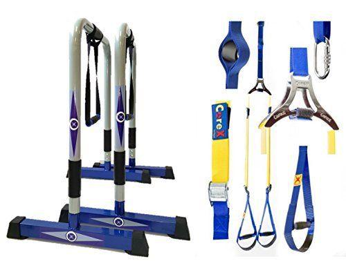CoreX Functional Fitness Parallette Dip Station. Dip Bars. Bodyweight Bundle Deal! (Grey Dip Bars & Suspension Strap Trainer Bundle) - http://www.exercisejoy.com/corex-functional-fitness-parallette-dip-station-dip-bars-bodyweight-bundle-deal-grey-dip-bars-suspension-strap-trainer-bundle/fitness/