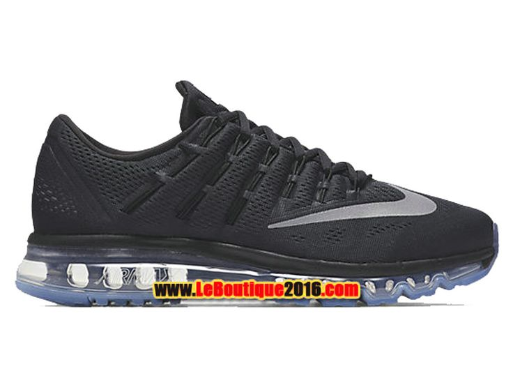 Nike Air Max 2016 Homme Chaussures de Running Pas Cher Noir/Blanc 806771-001