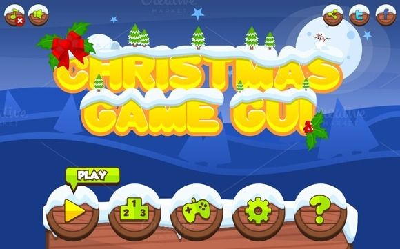 Christmas Game GUI by pzUH on @creativemarket