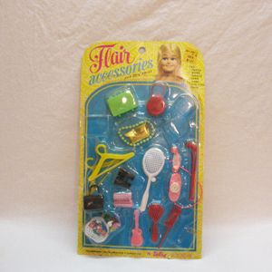 1970s Flair Doll Accessories For Clone Dolls Barbie Miss Flair Twistee Very Good Condtion - similar to Goodies Galore in Catalog