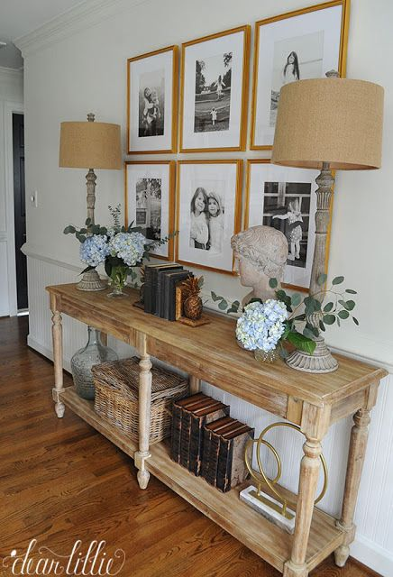 These tall lamps from @Homegoods work well on our console table in our upstairs hallways. (sponsored pin)