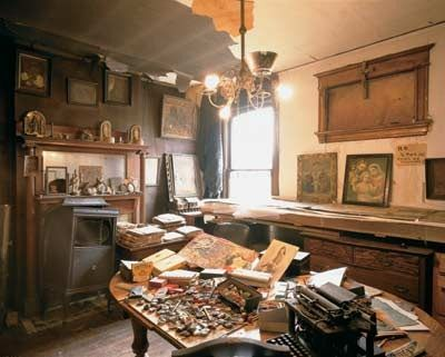 Henry Darger's room. Recluse writer and artist.