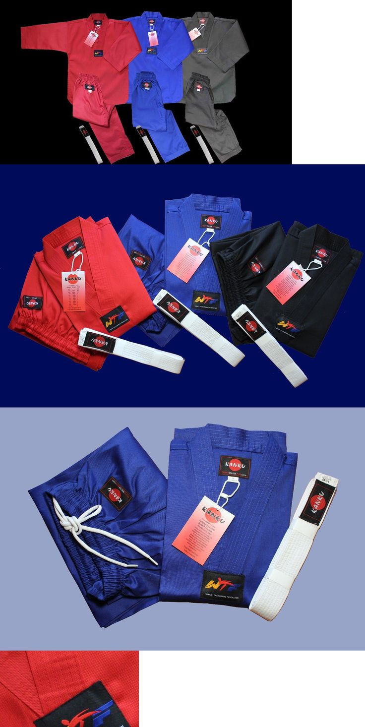 Uniforms and Gis 179774: Kanku New Taekwondo Uniforms Blue Red Black Ribbed 7.5Oz Adult And Kids Wtf -> BUY IT NOW ONLY: $31.95 on eBay!