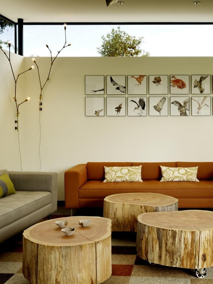 Architect is In, Neal Schwartz, Schwartz and Architecture, house in Sonoma, Lindsey Adelman DIY, Andrew Zuckerman Bird, cypress trunk coffee table on castors, Remodelista