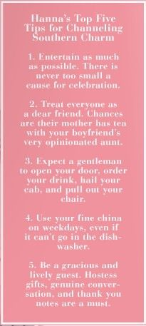tips for channeling southern charm...I know that @Julie Forrest Ann Knott has got these down !!  BUT - these are excellent tips for Caterers also - just saying !!! <3