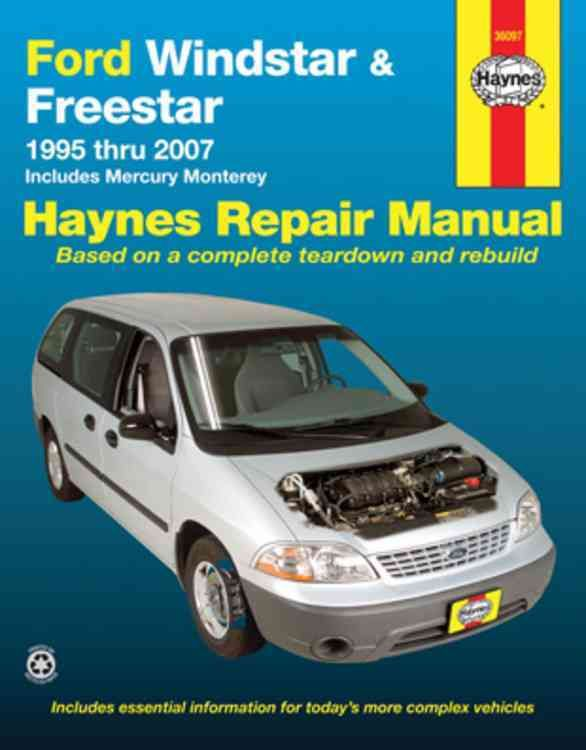 ford windstar freestar mercury monterey automotive repair manual rh pinterest co uk 1995 ford windstar owners manual 95 ford windstar repair manual pdf